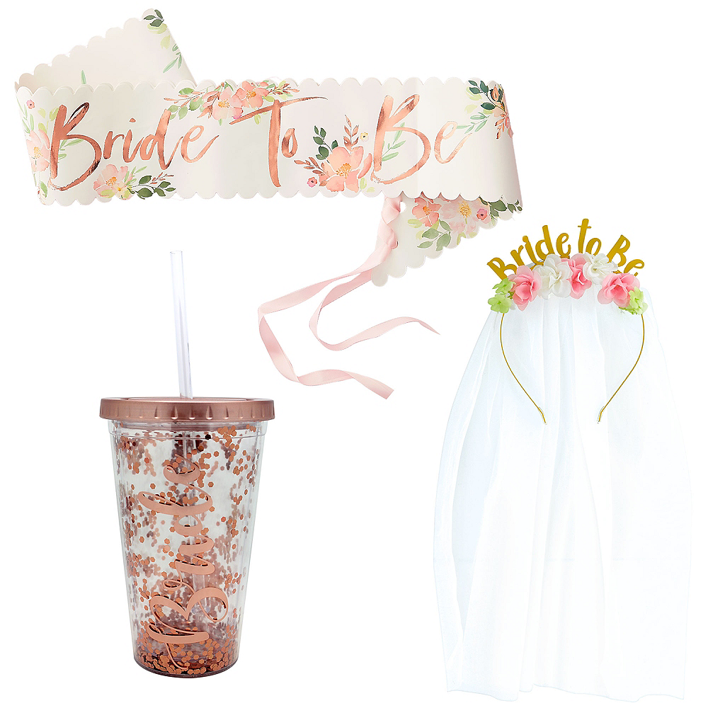 Rose Gold Bride-To-Be Bachelorette Party Accessories Image #1