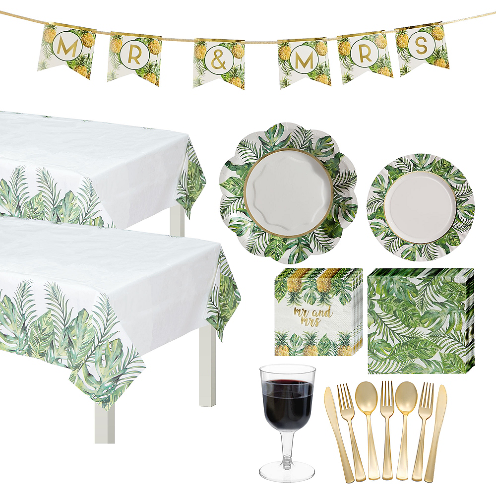 Tropical Wedding Tableware Kit for 50 Guests Image #1
