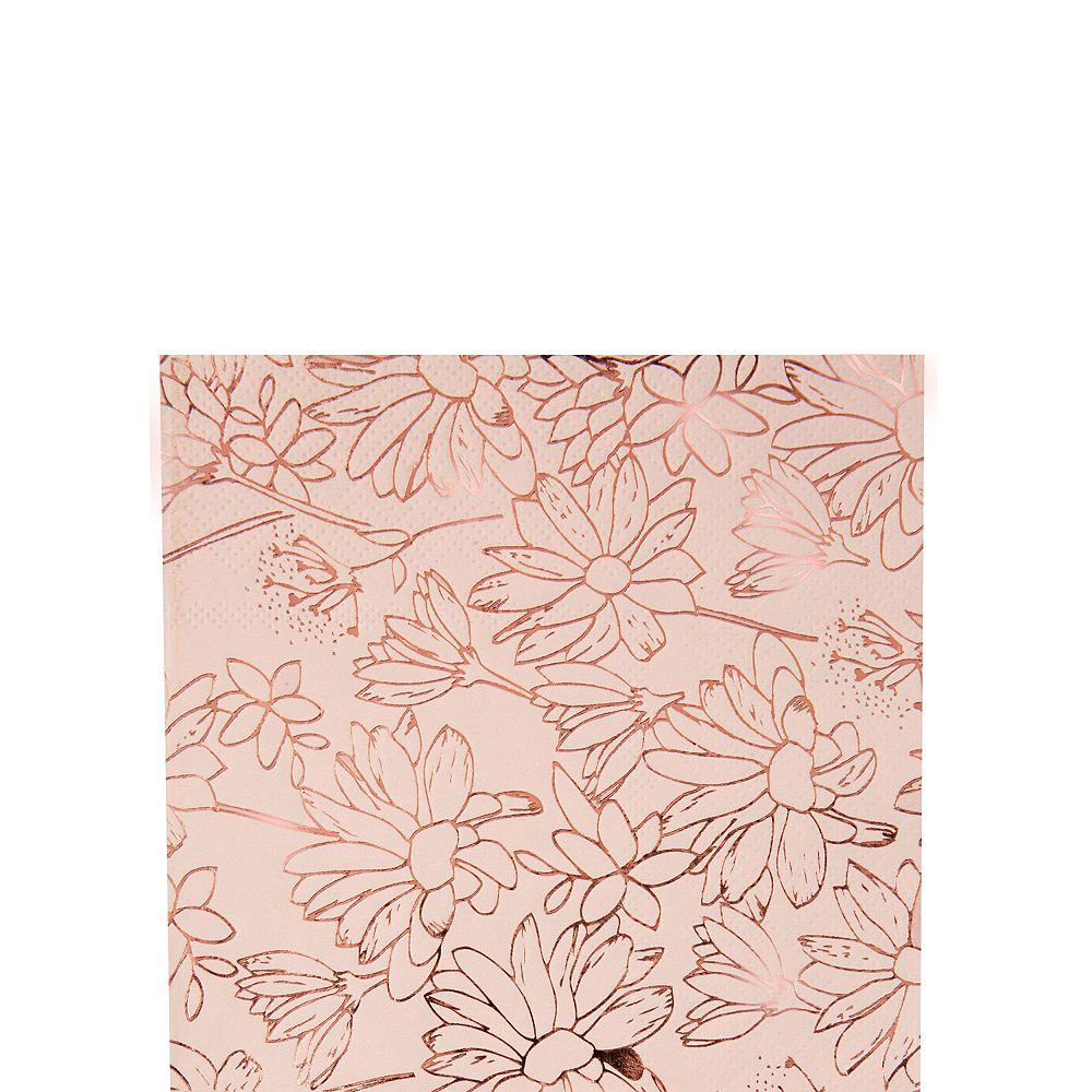 Rose Gold Floral Bridal Shower Tableware Kit for 50 Guests Image #3