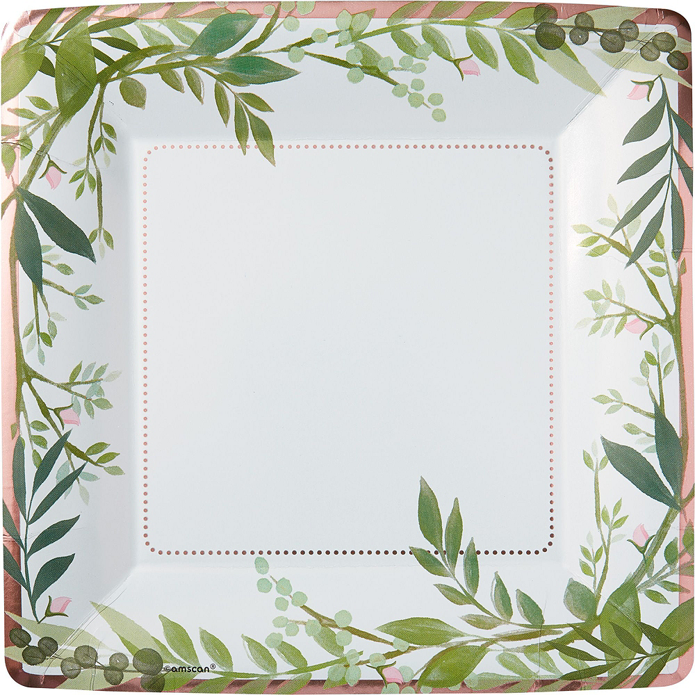 Metallic Floral Greenery Bridal Shower Party Supplies for 50 Guests Image #3