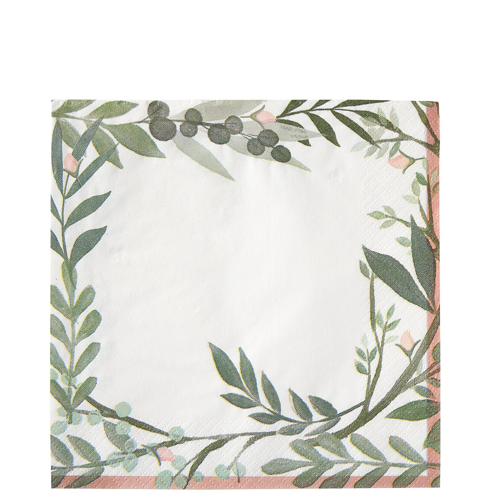 Metallic Floral Greenery Bridal Shower Party Supplies for 50 Guests Image #5