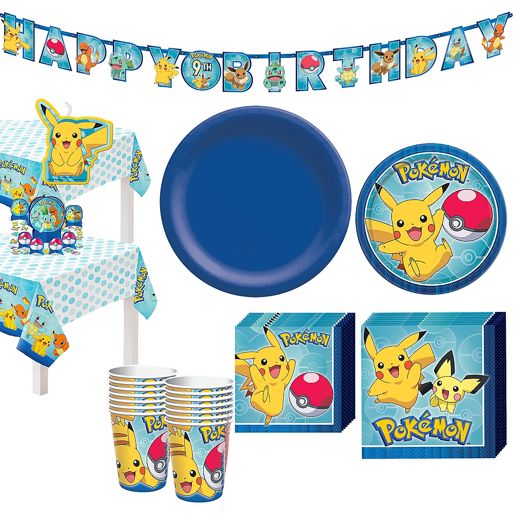 Classic Pokemon Tableware Party Kit for 8 Guests Image #1