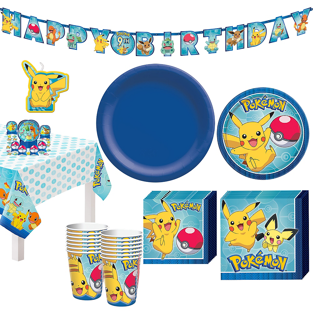 Classic Pokemon Tableware Party Kit for 16 Guests Image #1