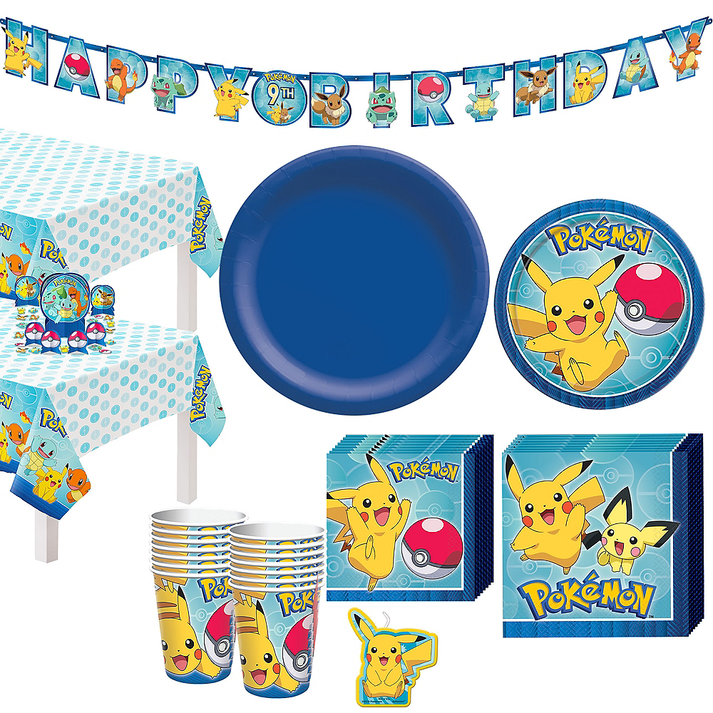 Classic Pokemon Tableware Party Kit for 24 Guests Image #1