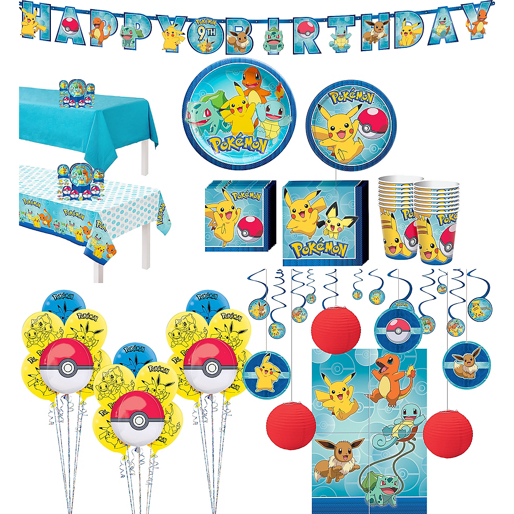 Ultimate Classic Pokemon Tableware Party Kit for 16 Guests Image #1
