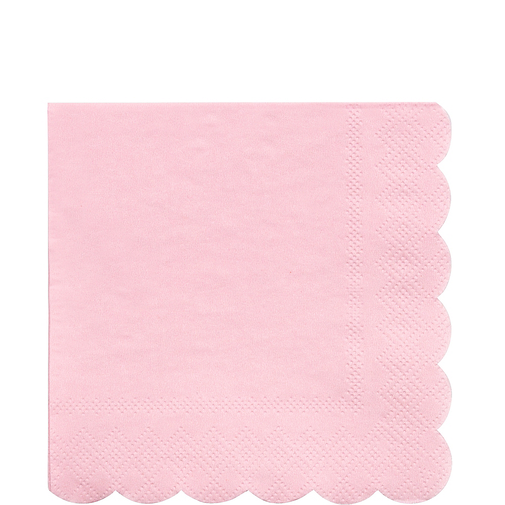 Eco-Friendly Meri Meri Pale Pink Lunch Napkins 20ct Image #1