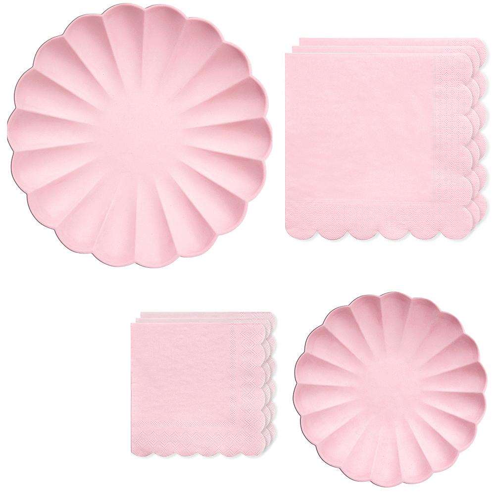 Eco-Friendly Meri Meri Pale Pink Tableware Kit for 16 Guests Image #1