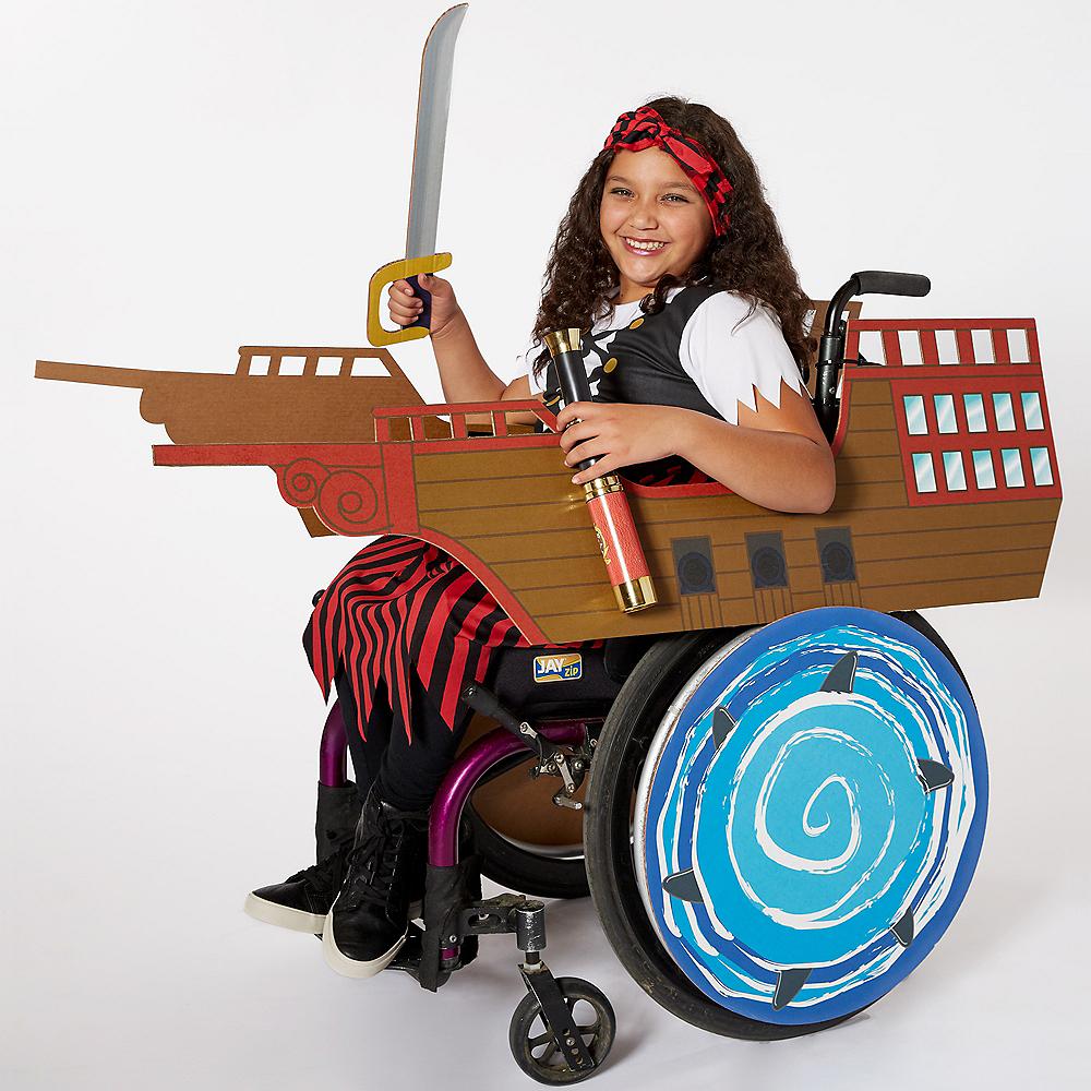 Child Wheelchair Pirate Ship Costume Image #1