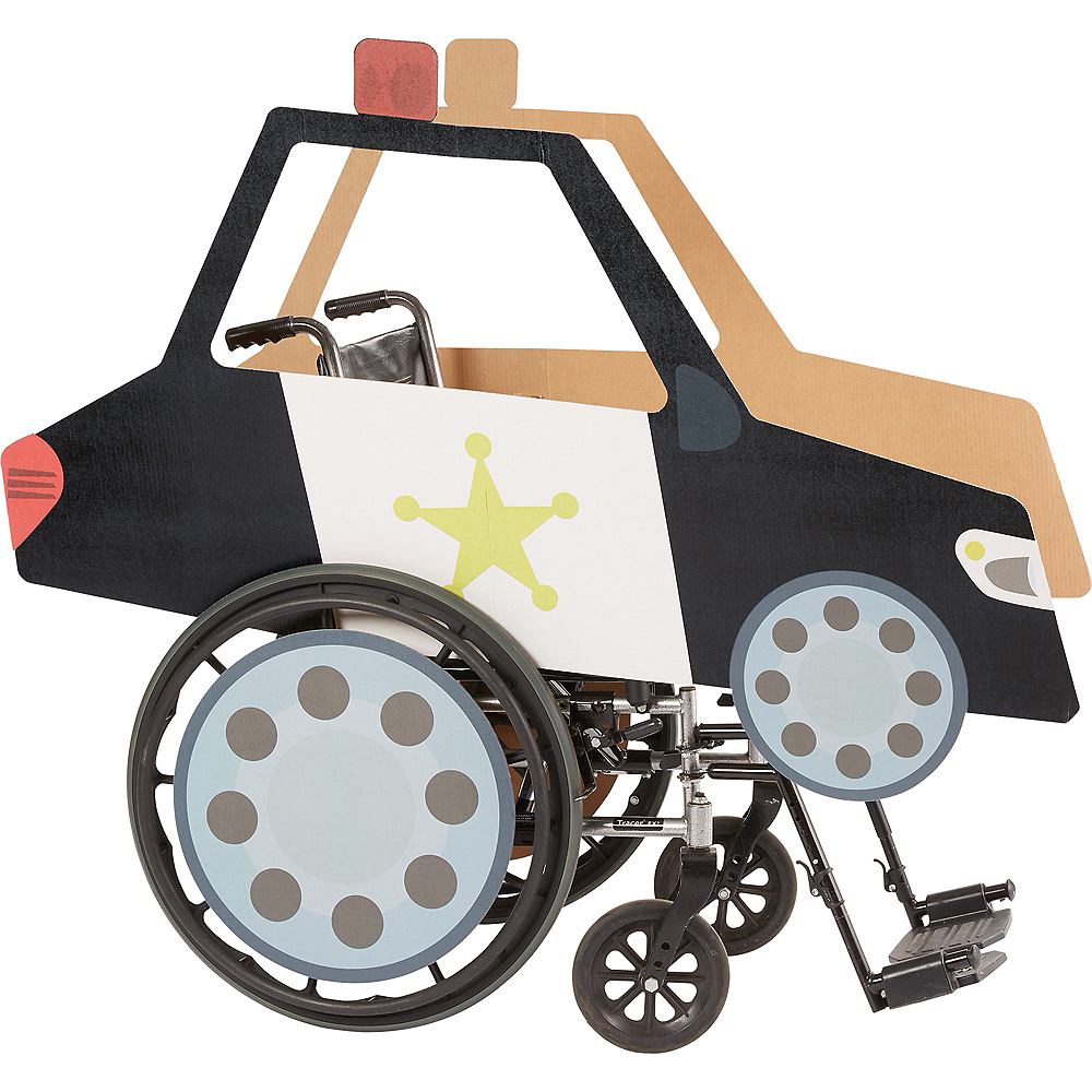 Child Wheelchair Police Car Costume Image #1