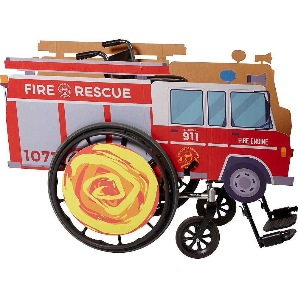 Child Wheelchair Fire Truck Costume Image #1