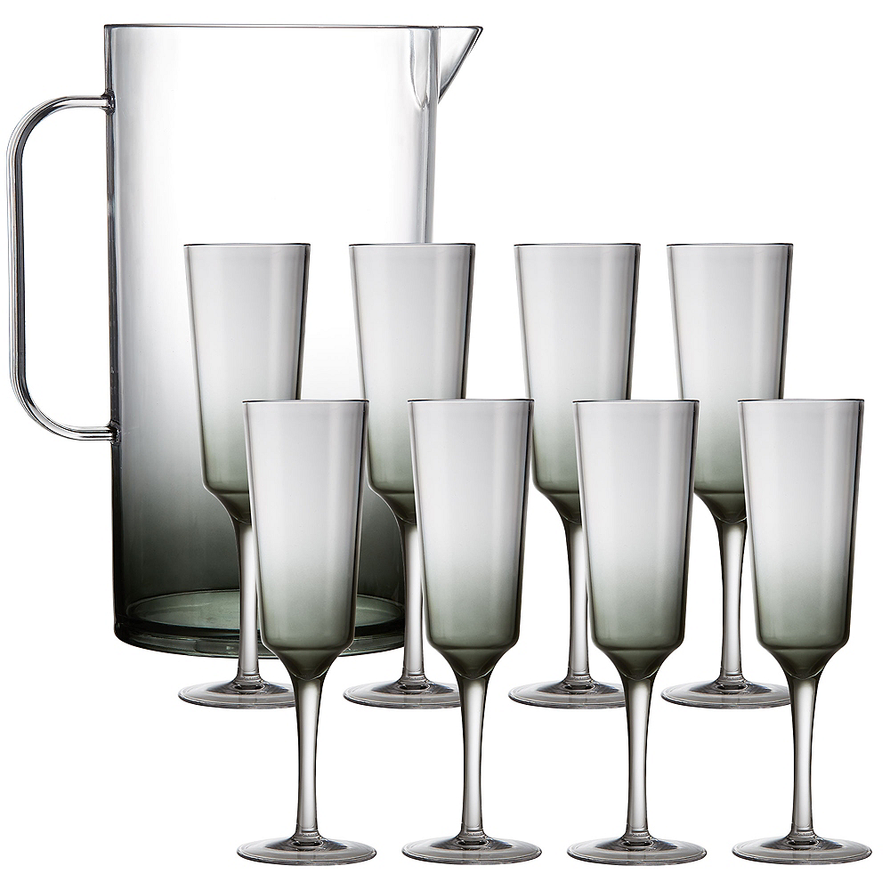 Ombre Premium Acrylic Mimosa Set for 8 Image #1