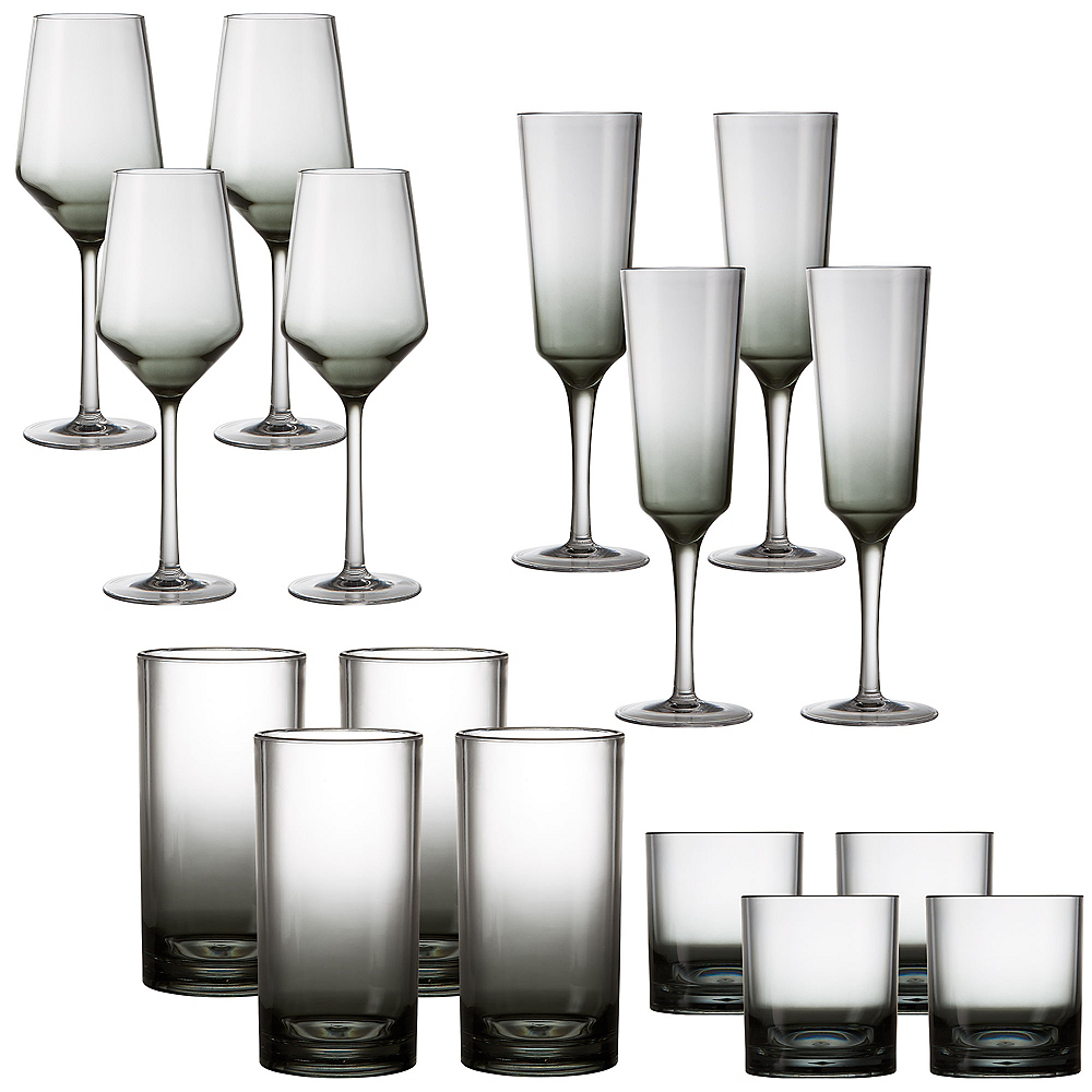 Ombre Premium Acrylic Drinkware Set for 4 Image #1