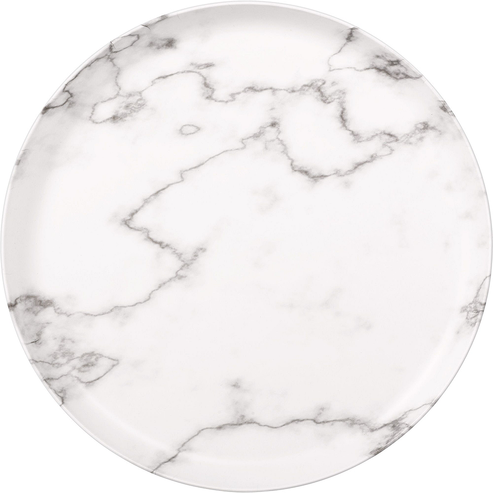 Nav Item for Faux White Marble Melamine Serving Set Image #2