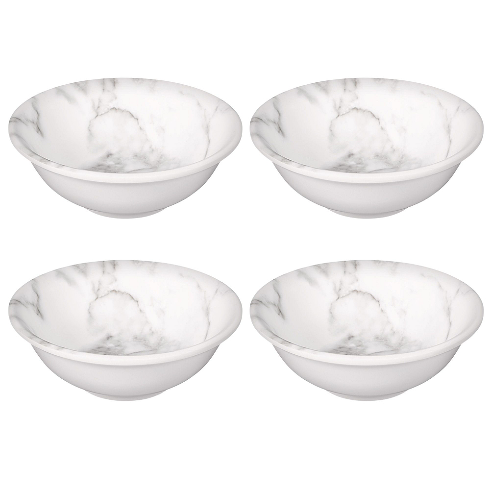 Faux White Marble Melamine Serving Set Image #4