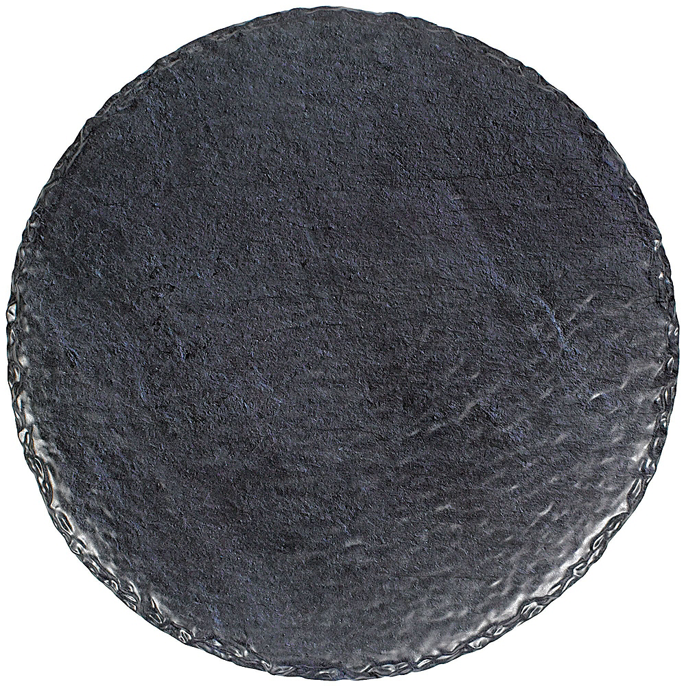 Faux Black Slate Melamine Round Cheese Board Set Image #5