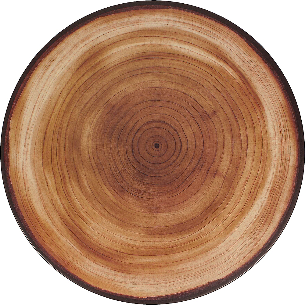 Faux Wood Melamine Cheese Board & Bowl Set Image #5