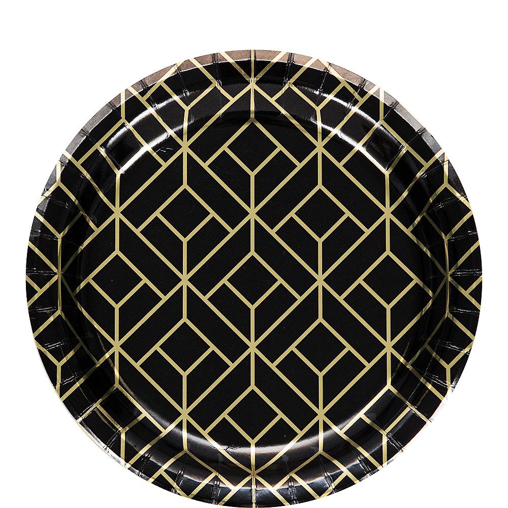 Metallic Roaring 20s Dessert Plates 8ct Image #1