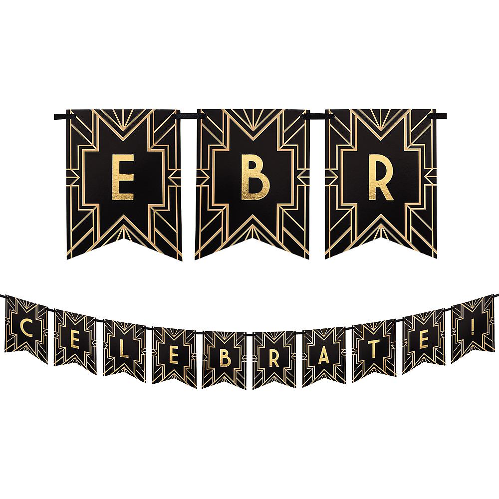 Roaring 20s Letter Banner 5 3/4ft X 6in