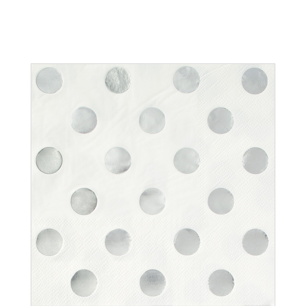 Metallic Silver & Polka Dot Lunch Kit for 16 Guests Image #4