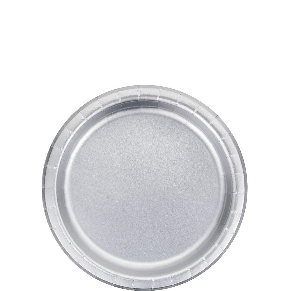 Metallic Silver & Polka Dot Tableware Kit for 16 Guests Image #2