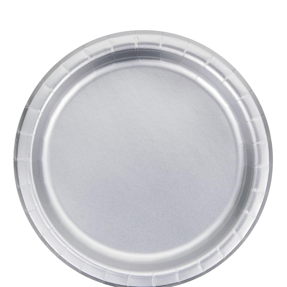 Metallic Silver & Polka Dot Tableware Kit for 16 Guests Image #3