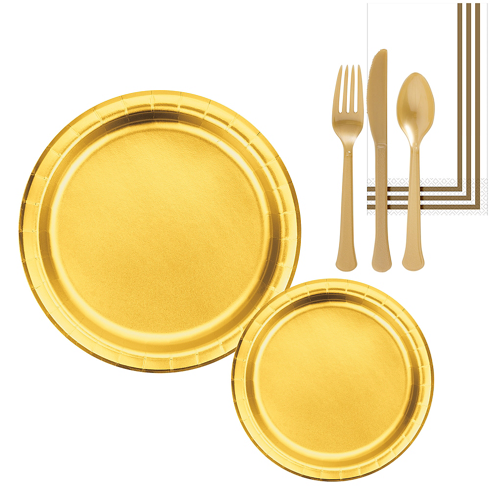 Metallic Gold Lunch Kit for 16 Guests Image #1