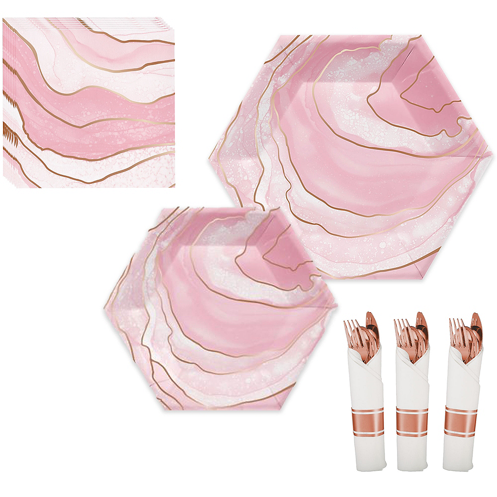 Rosé All Day Metallic Lunch Kit for 16 Guests Image #1