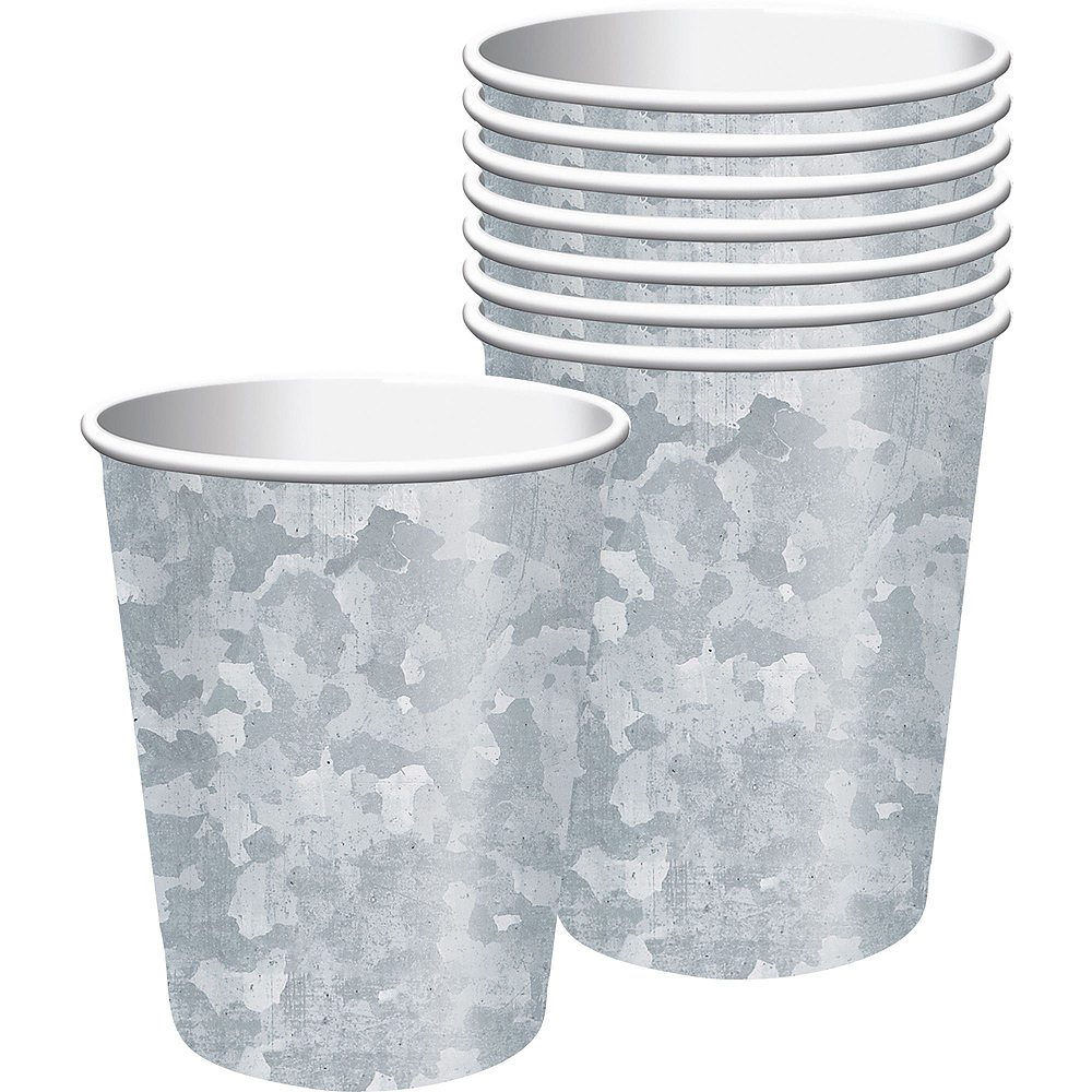 Faux Galvanized Steel Tableware Kit for 16 Guests Image #5