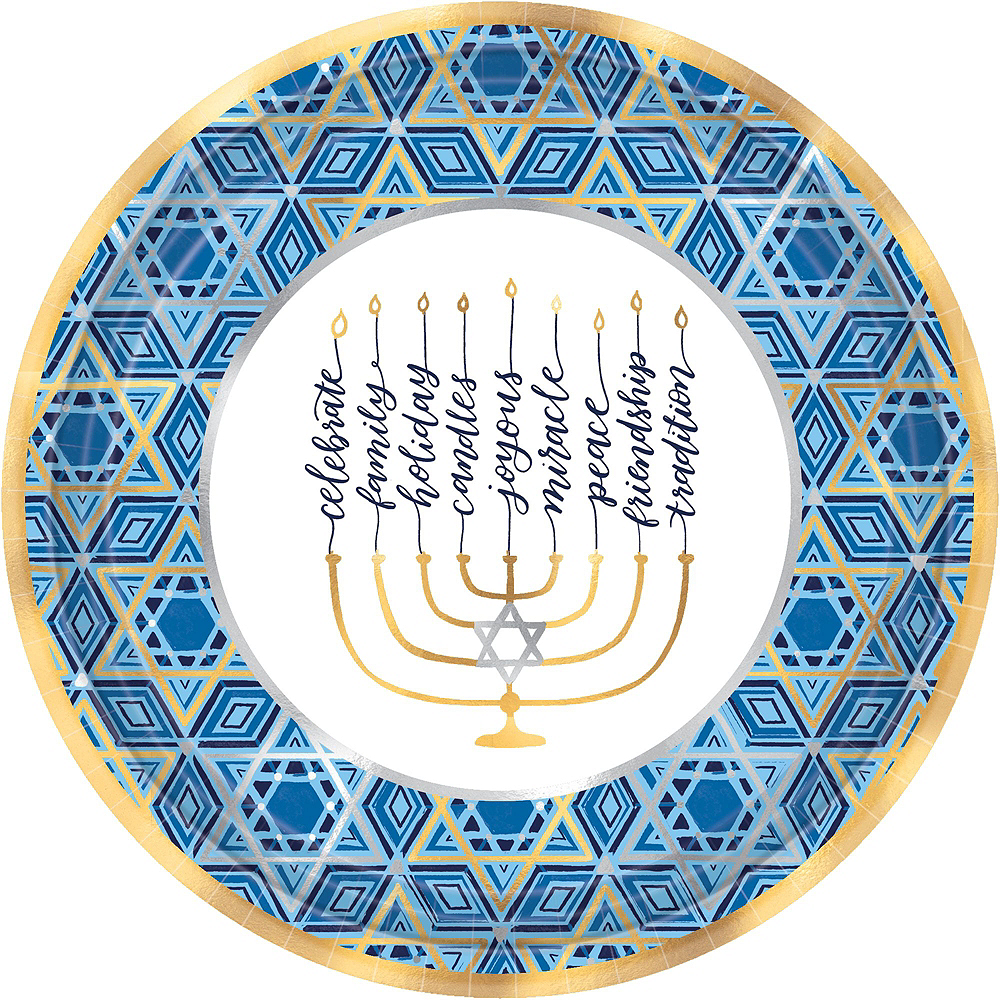 Festival Of Lights Hanukkah Tableware Kit for 54 Guests Image #3
