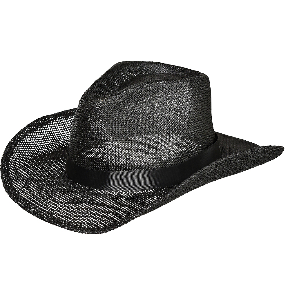 Black Burlap Cowboy Hat Image #1