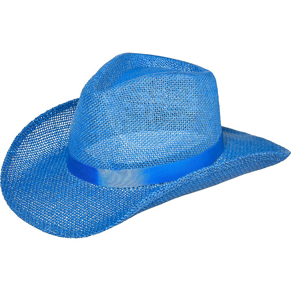 Blue Burlap Cowboy Hat Image #1