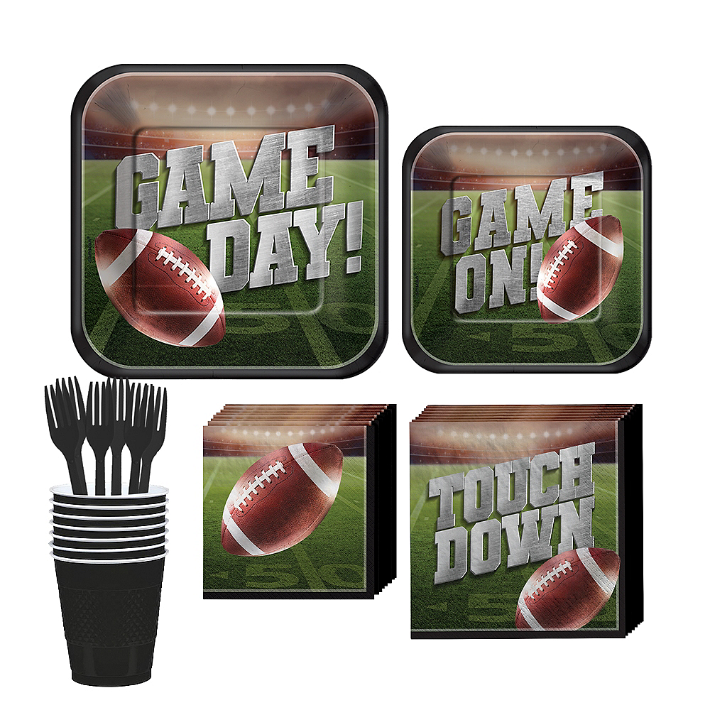 Go Fight Win Football Tableware Kit for 18 Guests Image #1