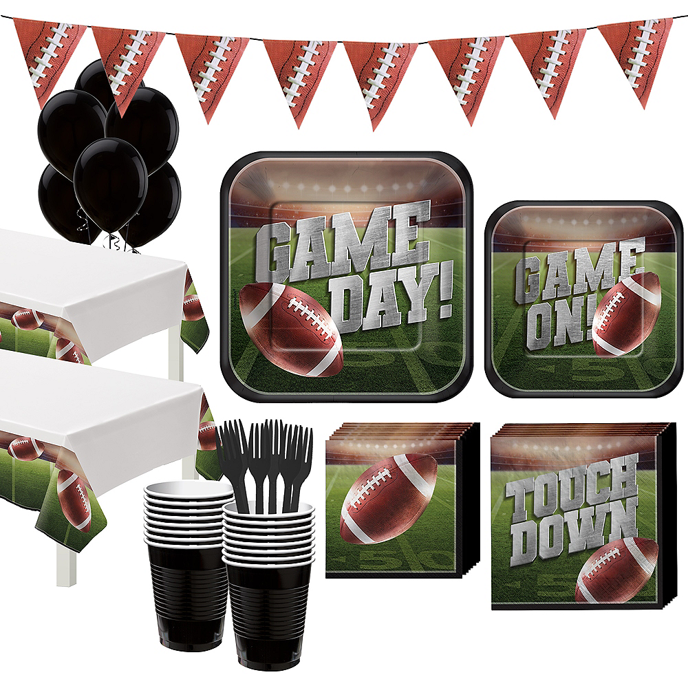 Go Fight Win Football Tableware Kit for 36 Guests Image #1