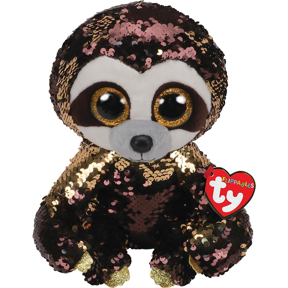 Dangler TY Flip Sequin Sloth Plush Image #1