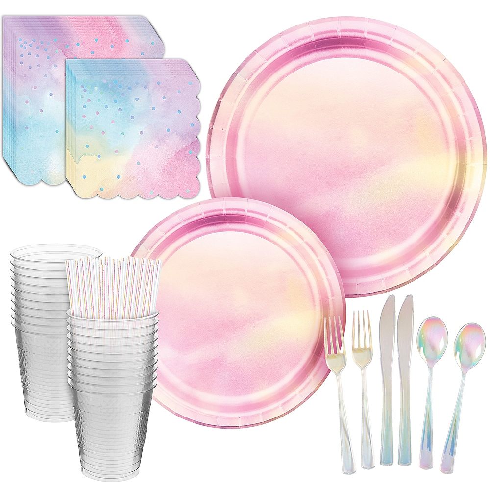 Iridescent Pastel Party Kit for 16 Guests Image #1