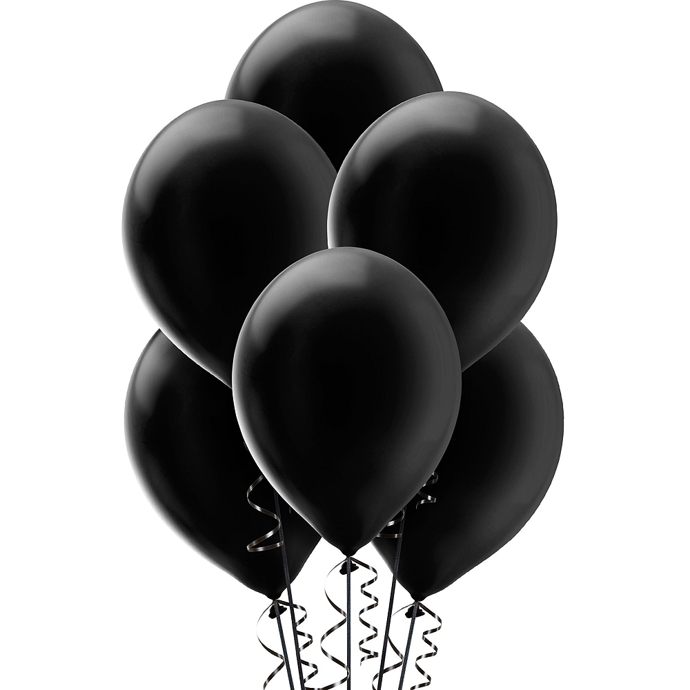 Air-Filled Black & Gold New Year's Eve Balloon Kit Image #2