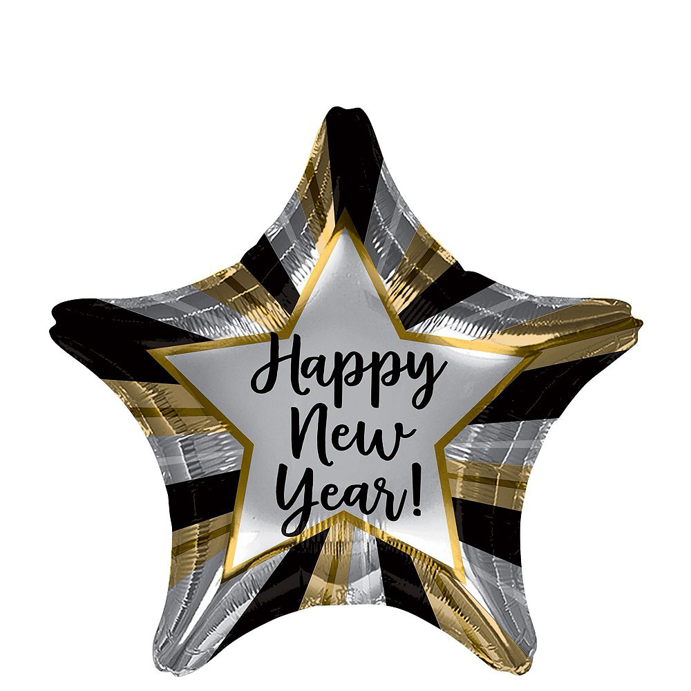 Silver New Year's Eve Balloon Kit Image #5