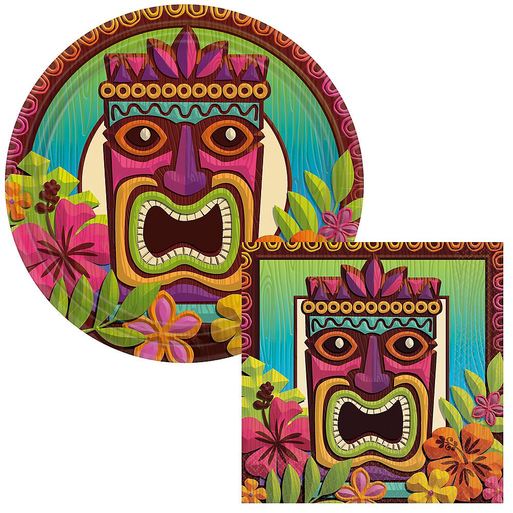 Basic Tropical Tiki Tableware Kit for 60 Guests Image #1
