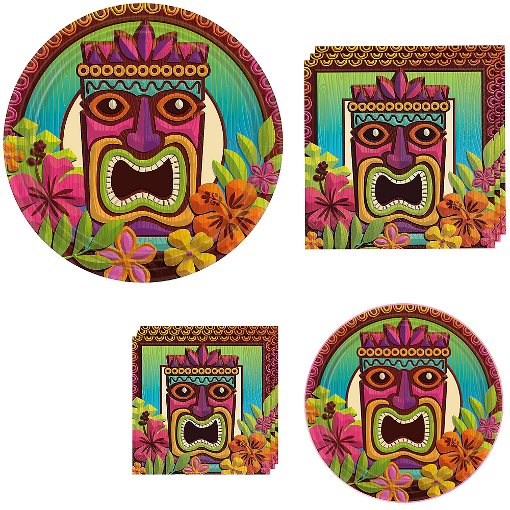 Tropical Tiki Tableware Kit for 60 Guests Image #1