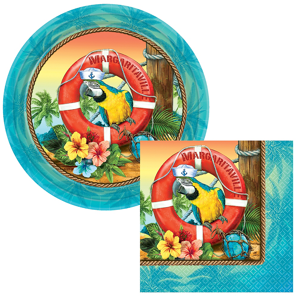 Basic Margaritaville Tableware Kit for 50 Guests Image #1