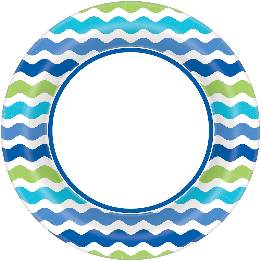 Cool Wavy Stripe Tableware Kit for 120 Guests Image #3