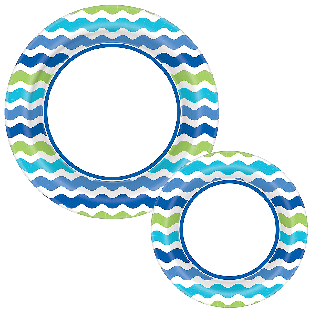 Cool Wavy Stripe Plates for 120 Guests Image #1