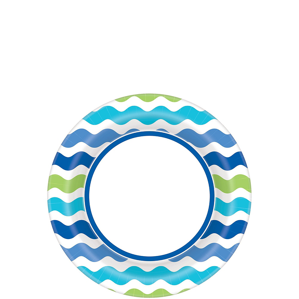 Cool Wavy Stripe Plates for 120 Guests Image #2