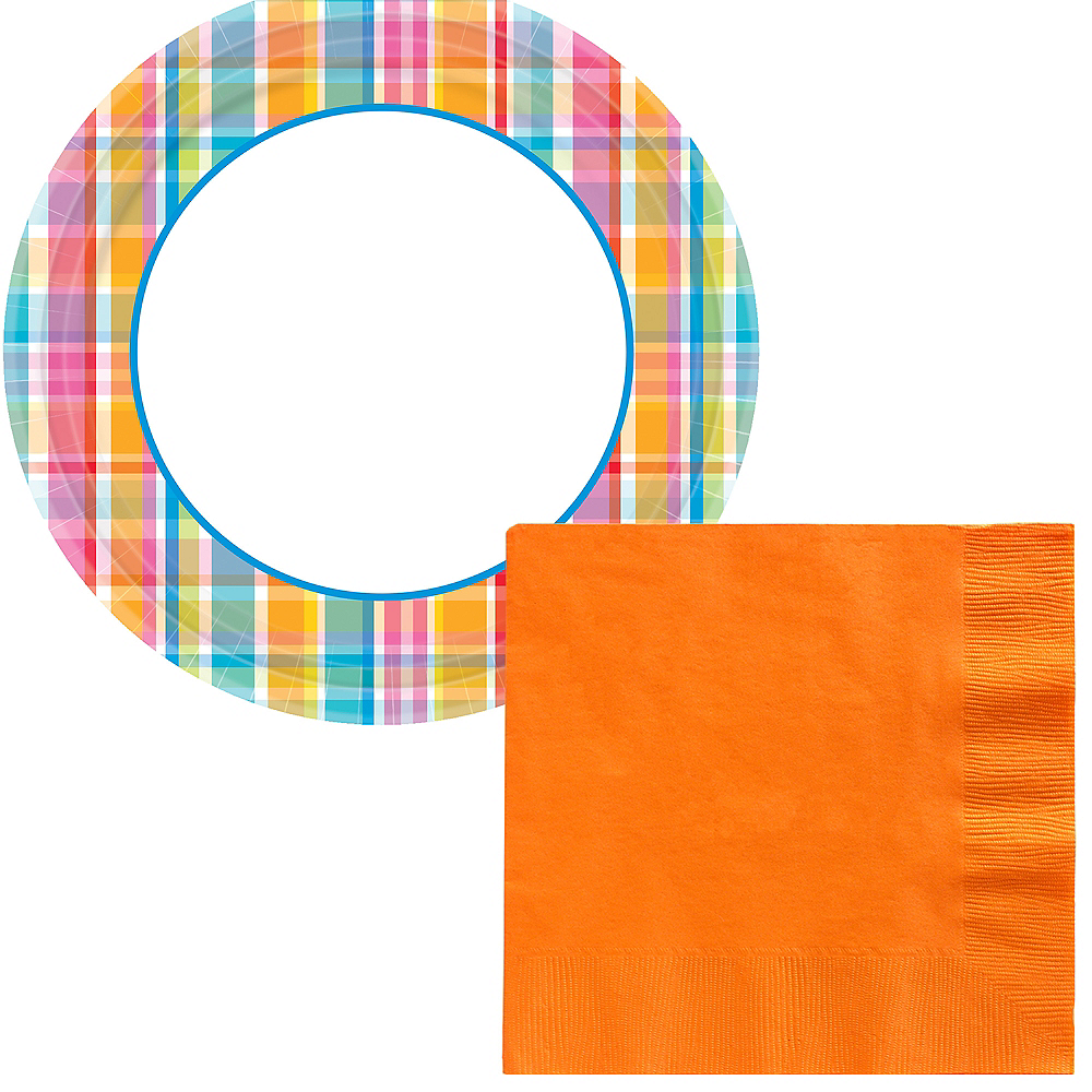 Basic Bright Border Tableware Kit for 120 Guests Image #1