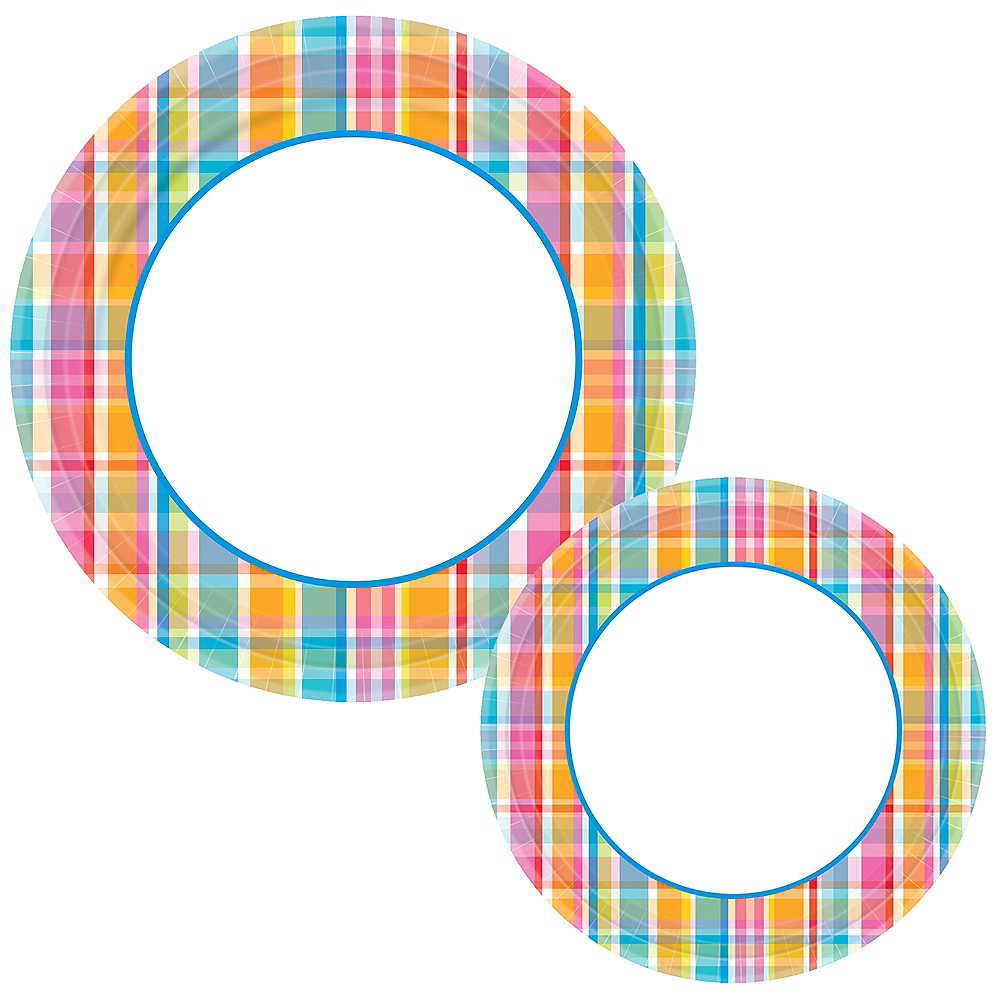 Bright Border Plates for 120 Guests Image #1
