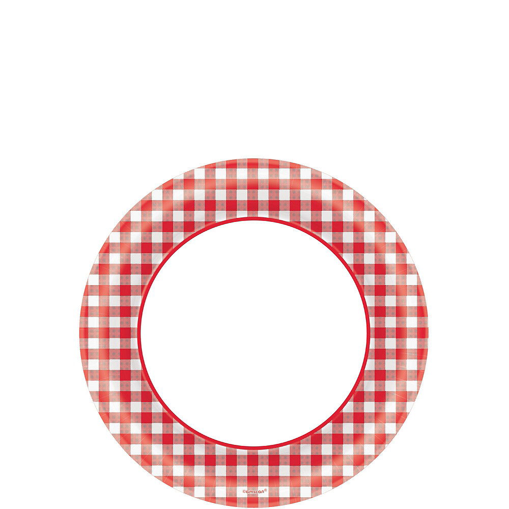 Picnic Gingham Plate Kit for 120 Guests Image #2