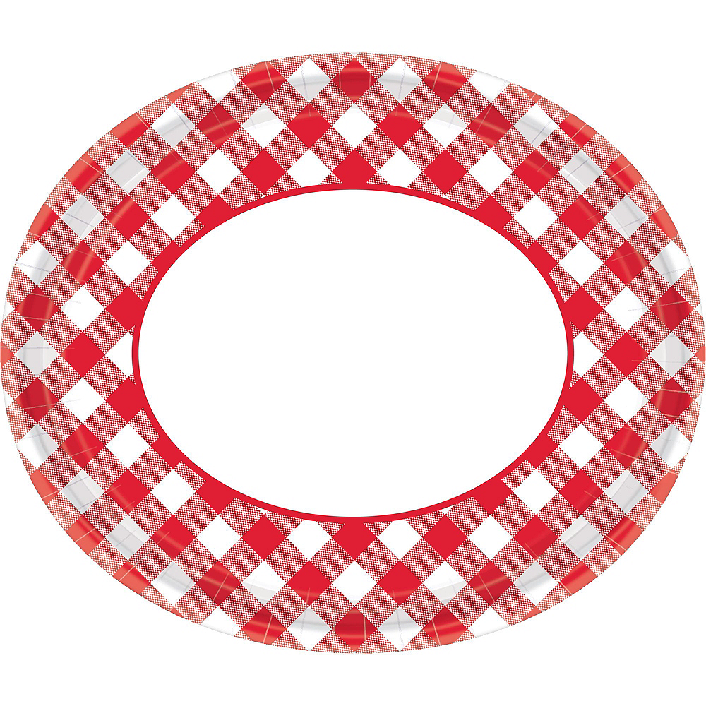 Picnic Gingham Plate Kit for 120 Guests Image #4