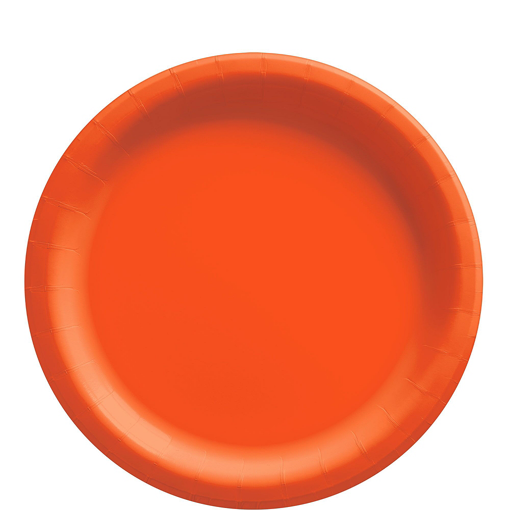 Orange Paper Tableware Kit for 50 Guests Image #3