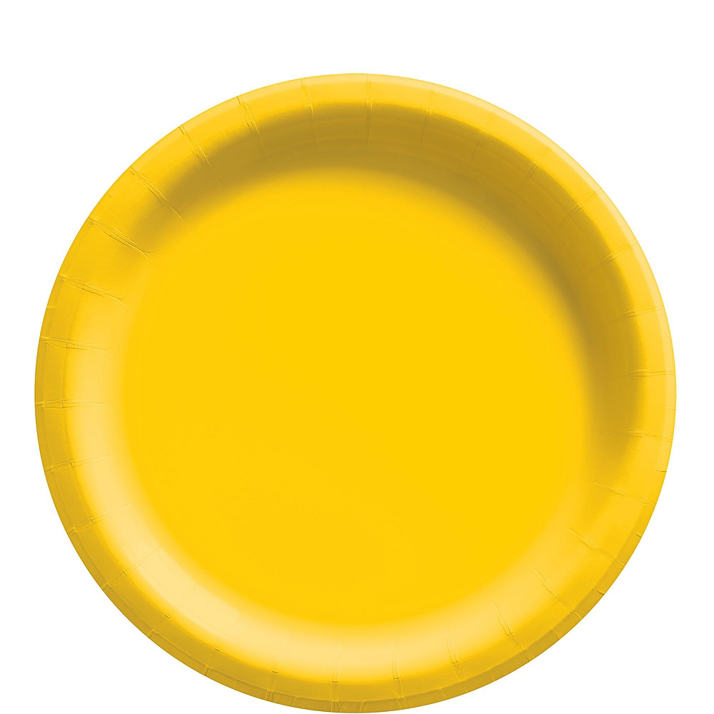 Yellow Paper Tableware Kit for 50 Guests Image #3
