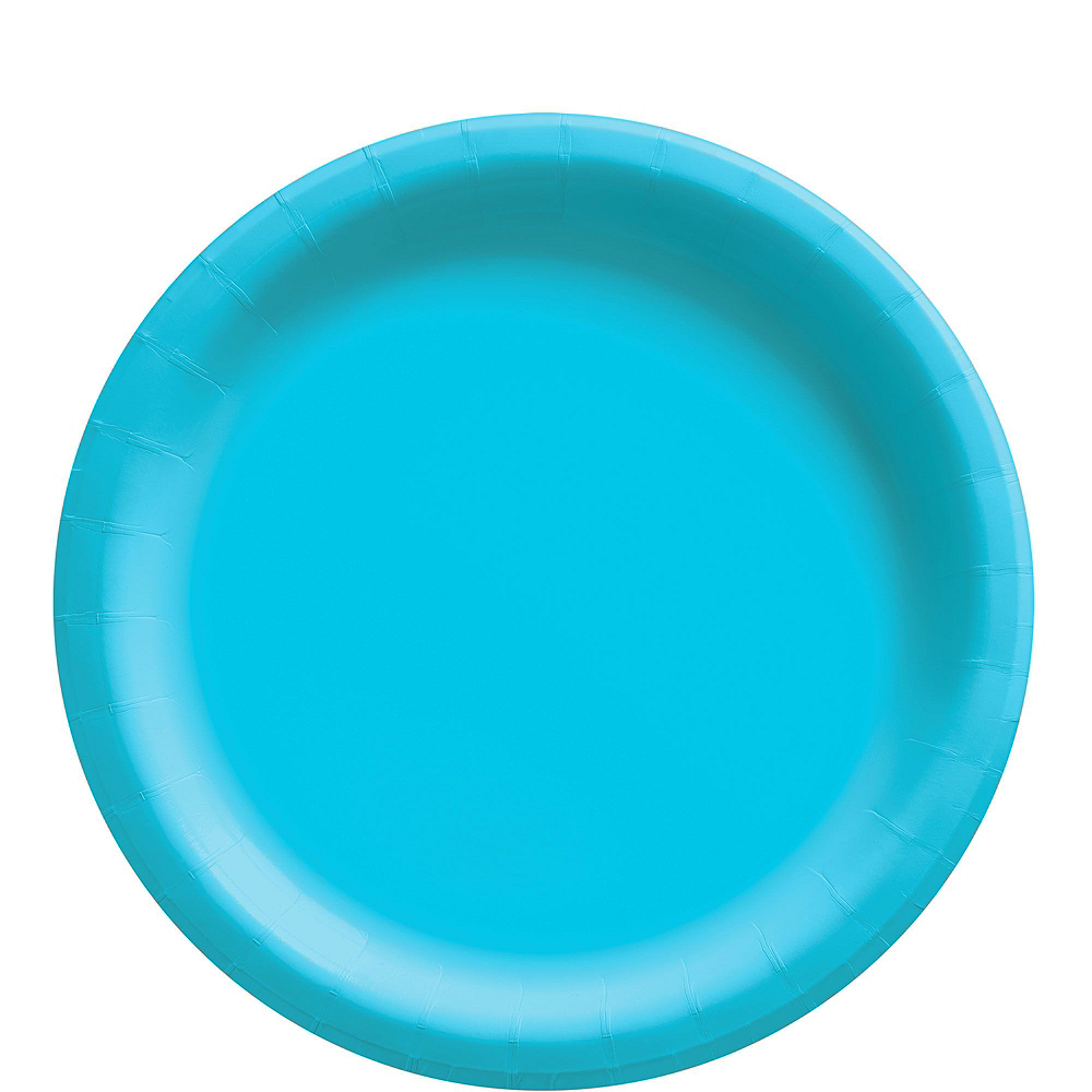 Caribbean Blue Paper Tableware Kit for 50 Guests Image #3